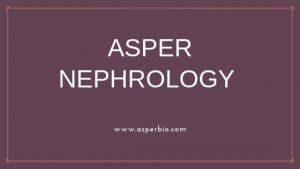 Asper Nephrology genetic testing