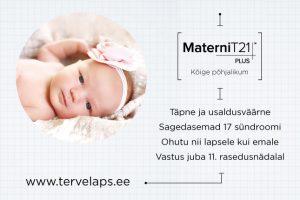 Loote kromosoomiuuring_MaterniT21 PLUS